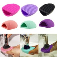 Wholesale Makeup Brush Cleaners Cosmetic Foundation Glove Scrubber Silicone Cleaning Tool H2010258