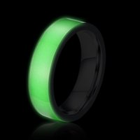 Wholesale Luminous fluorescent Fashion Couple Rings a shining green light ring in the darkness man and woman ring high quality jewelry