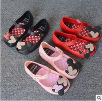 Wholesale 120pair CCA4188 High Quality Colors Mickey Mouse Melissa Children s Sandals Jelly Princess Shoes PVC Soft Bottom Girls Summer Shoes