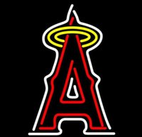 angeles business - Business Custom NEON SIGN board For Baseball MLB Los Angeles Angels REAL GLASS Tube BEER BAR PUB Club Shop Light Signs quot