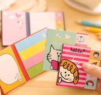 Wholesale 2016 Cute Cartoon Animal Folding Self Sticky Memo Pad Note Pad Sticky Notes Memo Set Gift Stationery Retail