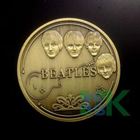 beatles gift box - Sample order American Band Beatles souvenirs replica Coin with Capsule box metal craft gift pc