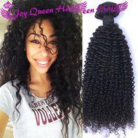 Wholesale Cheap Brazilian Curly Human Hair weaves A Peruvian Indian Malaysian Hair Bundles Human hair Extension Double Machine hair weft dyable