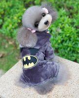 Fall/Winter batman hoodie jacket - Dog Winter Cotton Fleece Hooded Jumpsuits Clothing Pets Cartoon Garfield Batman Pattern Overalls Chihuahua Cat Warm Hoodies S to XXL