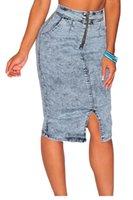blue jean skirts - Light Blue Denim Skirt High Waist Midi Skirts Womens Jean Skirts Summer Party Clubwear Dresses for Women Clothing Denim Long Pencil Skirt