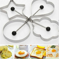 Wholesale Stainless Steel Fried Egg Shaper Ring Pancake Mould Mold Cooking Kitchen Tools R91