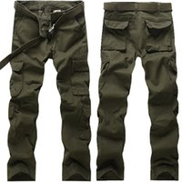 Wholesale Army outdoor survival pants casual men s Straight trousers climbing overalls hike pants Hunting Hiking Multi pocket trousers