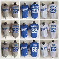 Wholesale 2015 New Fabric Los Angeles Dodgers Jersey Clayton Kershaw Adrian Gonzalez Yasiel Puig Stitched Baseball Jerseys