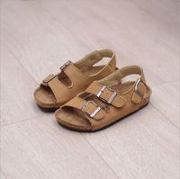 baby parents - Summer Style PU Cork Rubber Sandalias Birkenstock Parents and Children Shoes Women Men Girls Boys Sandals Kids Shoes Baby Girl Boy Sandals