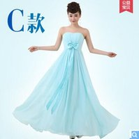 Wholesale New spring and summer fashion dresses solid color bridesmaid dress evening dress cocktail dress skirt mopping the floor