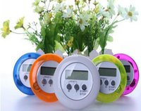 Wholesale Round Magnetic LCD Digital Kitchen Countdown Timer Alarm with Stand Timer Stop Watch Clock