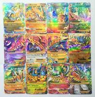 Wholesale 60 Set English Poke Go Cards Shine XY EX Cards Mega EX Poke Card Kids Toys Gift Trading Card Christmas Gift