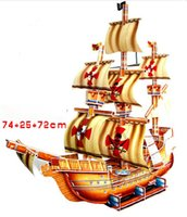 Wholesale Hot Selling Puzzles Kids Educational Toys DIY D Jigsaw Puzzle For Children Adults Ship Model