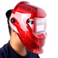 Wholesale 4 Arc sensor big sreen Solar LI battery auto darkening TIG MIG MMA MAG electric welding mask helmets welder cap