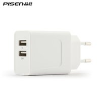 Cheap PISEN Dual USB Fast Charger Power 5V 2.4A Travel Convenient EU Plug White Mini Phone Wall Adapter for iPhone 6 Samsung Tablet