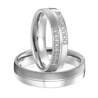alliance china - Alliance China factory one pair love couples wedding rings titanium steel jewelry