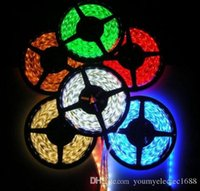 Wholesale 200M M Roll SMD Waterproof LEDs M LEDs Warm Cool White Red Green Blue Yellow RGB Flexible LED Strip Light