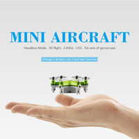 Wholesale 2016 New Smallest Mini Drone FY805 CH G Axis Degree Roll Drone LED Plane Model Axis Aircraft RC Toys
