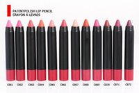 best crayons - 12 Lowest Best Selling NEW Makeup Patentpolish Lip Pencil Velvet Matte Lipstick Pencil Nutritious WaterProof Lips Colors Crayon g