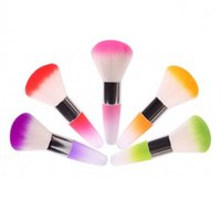 Wholesale 5 Brand New Nail Art Dust Cleaner Face Blush Brush Makeup Cosmetic Blush Brush JC03198