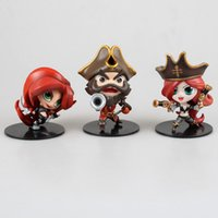 action figure hands - League of Legends LOL Q version doll GANGPANK KATARINA MISS FORTUNE hand model Boxed PVC Action Figure Collection Model