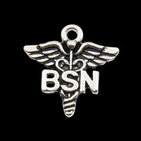 angels symbols - Alloy Caduceus Medical Symbol Charms BSN Vintage Pendant Jewelry Accessories Charms AAC1123