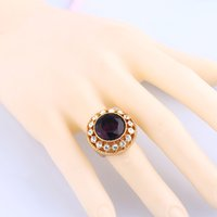 Wholesale 2016 of the latest fashion style ruby diamond ring Allergy free health care jewelry euramerican style manufacturers