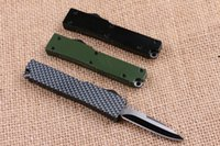 aluminum cutting tools - 2016 Microtech Benchamde Key Buckle Knife Aluminum T6 Carbon Fiber Folding Knife Mini Knife Cutting Tools Survival Knife F480L