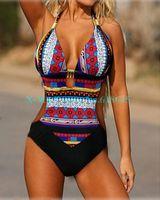 Wholesale Brand Sexy Bohemia Summer Bikinis Set one pieces beach Swimsuit Swimwear women plus size swim wear swimming L223