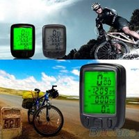 Wholesale Wireless LCD Bicycle Computer Odometer Waterproof Backlight Bike Cycle Speedometer QEV