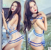 Wholesale Girls Sexy Perspective Role Playing Games School Uniform Suit Fashion Sexy Lingerie Dress Temptation Games School Uniform H59