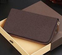 Wholesale Women s Men Fashion designer clutch famous brand clutch leather wallet with logo box