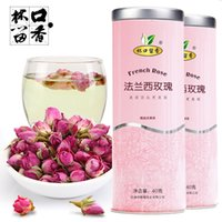 Wholesale New Organic French Rose Top Quality Rose Buds Flower Floral Herbal Dried Health Chinese Tea for Women Ladys Anti Aging Tea Grams
