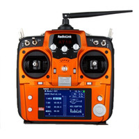 rc transmitter - Radiolink AT10 Transmitter Receiver Channel Ghz RC Remote Control System with R10D Receiver for RC Airplane Helicopter