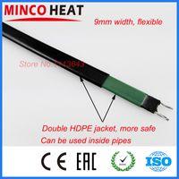Envío libre 220V autorregulable calentador solar de agua anticongelante tubo y tubería de la casa calentamiento congelación 5m cable calefactor protección