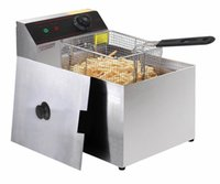 basket deep fryer - 2500W Deep Fryer Electric Commercial Tabletop Restaurant Frying w Basket Scoop