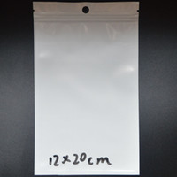 Wholesale Clear White Pearl Plastic Poly Bags OPP Packing Zipper Lock Package Accessories PVC Retail Boxes Hand Hole