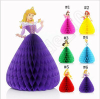 Wholesale 3D Princess Greeting Card Cartoon Birthday Card DIY Handmade Princess Gift Card Girls Card colors LJJO789