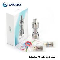 Wholesale Ecigarette Atomizer Authentic Eleaf Melo Atomizer ml Melo2 TC Tank with TC NI TC TI Coil Heads Top Refilling Sub Ohm Atomizer