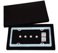 Wholesale Bling License Plate Frame with Screws and Crystal Rhinestone Caps Blue plate nail frame watch frame watch