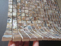 bathroom subway tile - Subway brick tiles mother of pearl tile new arrvial kitchen backsplash bathroom wall dyed black shell mosaic shell tiles