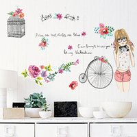american bathroom designs - 50 cm Wall Stickers DIY Art Decal Removeable Wallpaper Mural Sticker for Living Room Bedroom SK7012 Birdcage and Girls