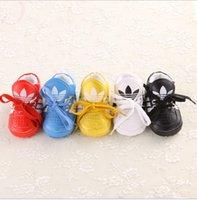 Wholesale PU lace baby toddler shoes new child soft bottom shoes CM CM CM candy colors spring autumn sports shoe pair B