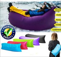 automatic beds prices - 2016 Lamzac Hangout Fast Inflatable Nylon Air Sofa Camping pillow Bed Sleeping Beach Lounger Sleeping Lay Bag Lazy Chair Children VIP price