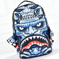 Wholesale Monster spray ground backpack Eagle head design bag Canvas daypack Cool style street rucksack Sprayground brand daypack