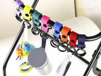 Wholesale 400PCS Universal Pram Pushchair Clip Stroller Hook Shopping Bag Carrier Holder Easy to fasten Long Magic Tape Strap