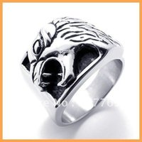 bald eagle gifts - Men s L Stainless Steel Casting Bald Eagle Hawk Rings SZ