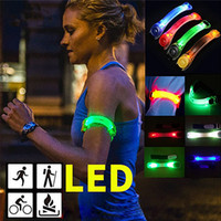 Wholesale LED Flashing Band LED Armband Highly Lead Belt Sweat Resistant Battery Power Safety Christmas light for Hiking Running Cycling Night Lights