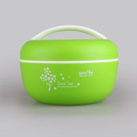 apple deck - YOOYEE brand NEW Apple Shape Microwaveable Plastic Lunch Box With Double Deck and spoon For kids