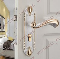 Wholesale Inter Continental EPS new door handle lock Universal hardware package wood door lock cylinder Jinsha silver
